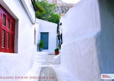 ATHENS IN A DAY TOUR ANAFIOTIKA WHITEWASHED HOME