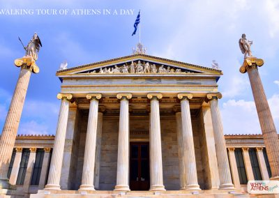 ATHENS IN A DAY TOUR ATHENS ACADEMY