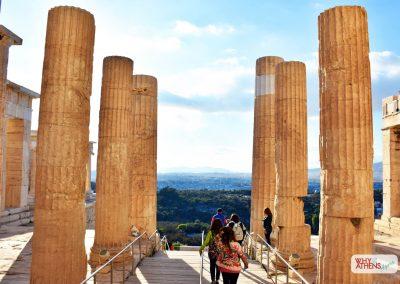 Acropolis Ancient Agora Walking Tour Propylaea Stairs