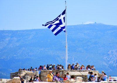 Acropolis Athens Photography Tour Greek Flag