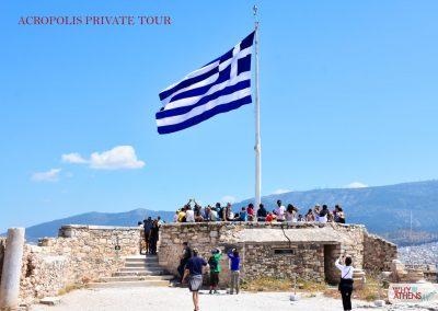 Athens Acropolis Tour Belvedere Greek Flag