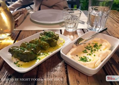 Athens By Night Food Wine Tour Dolmades