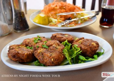 Athens By Night Food Wine Tour Keftedes