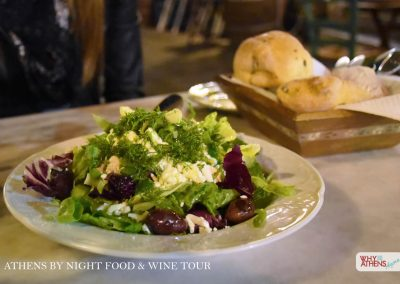 Athens By Night Food Wine Tour Salad