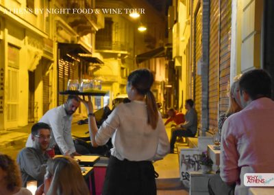 Athens By Night Food Wine Tour Waitress