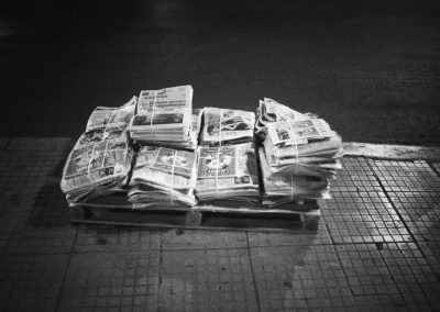 Athens Street Photography Tour Newspapers