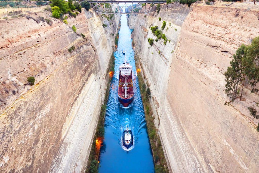 Corinth Canal Athens to Epidaurus
