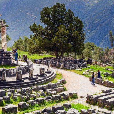Delphi Tour Taxi Athens THOLOS