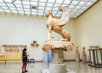 SPHINX OF NAXOS - ARCHAEOLOGICAL MUSEUM