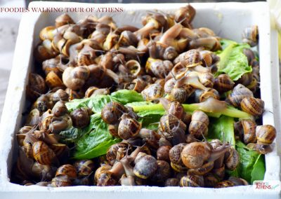 FOOD TOUR OF ATHENS MARKETS SNAILS FOR SALE