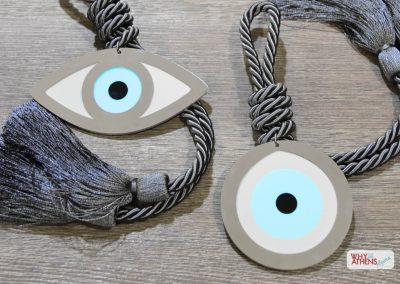 Greek Gouri Gift Home Dark Grey Evil Eye