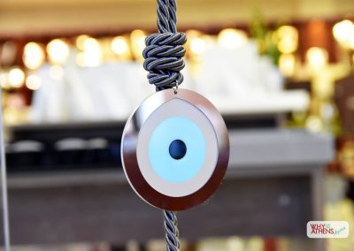 Greek Gouri Gift Home Dark Grey Round Evil Eye