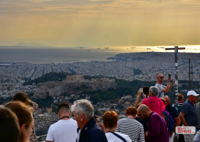LYCABETTUS HILL OVERLOOKING ATHENS