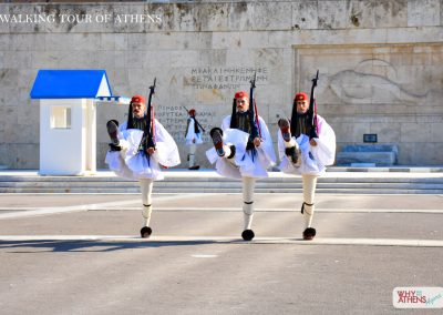 HALF DAY WALKING TOUR OF ATHENS EVZONES MARCHING