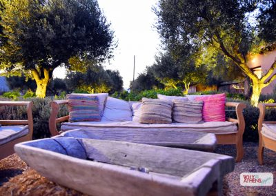 Margi Farm Athens Seating Area