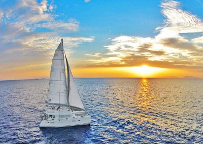 Sailing Athens Catamaran Cruise Sunset