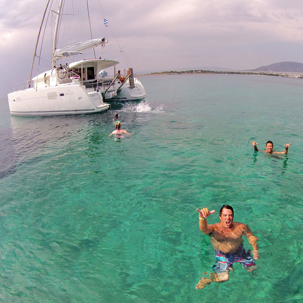 Sailing Athens CATAMARAN CRUISESailing Athens Half Day Tour