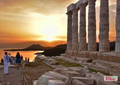 Sunset at Cape Sounio